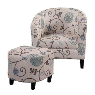 Aloysius Barrel Chair and Ottoman by One Allium Way SKU:CC290326 Shop