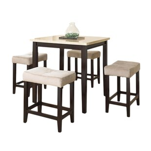 Skeens 5 Piece Counter Height Dining Set by Red Barrel Studio