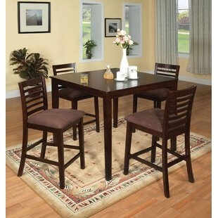 Bram 5 Piece Counter Height Dining Set by Red Barrel Studio Coupon