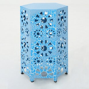 Bargain Balentine Outdoor Iron End Table by Ebern Designs