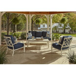 Mimosa 4 Piece Sunbrella Sofa Set with Cushions