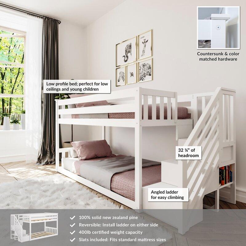 Harriet Bee Kean Twin Over Twin Bunk Bed Reviews Wayfair