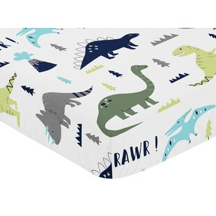 Check Prices Mod Dinosaur Fitted Crib Sheet By Sweet Jojo Designs