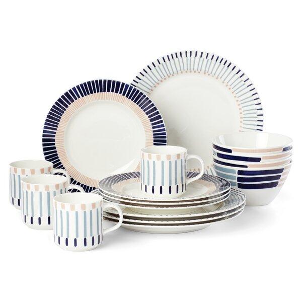 Kate Spade New York Brook Lane 16 Piece Dinnerware Set Service For 4 Wayfair
