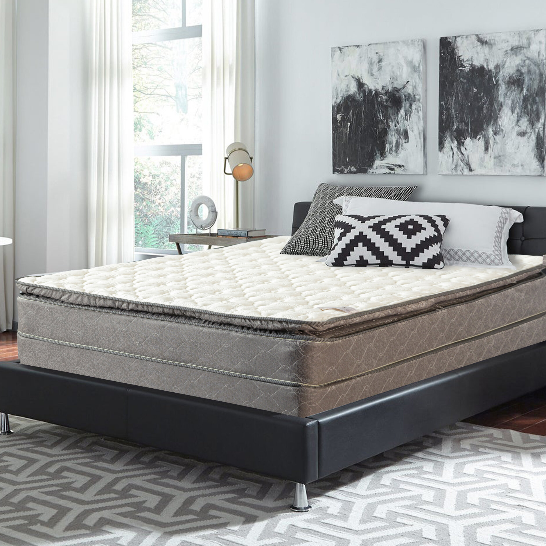 Spinal Solution 10 Plush Pillow Top Mattress And Box Spring Reviews Wayfair