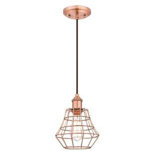 Trinh 1-Light Geometric Pendant by Williston Forge