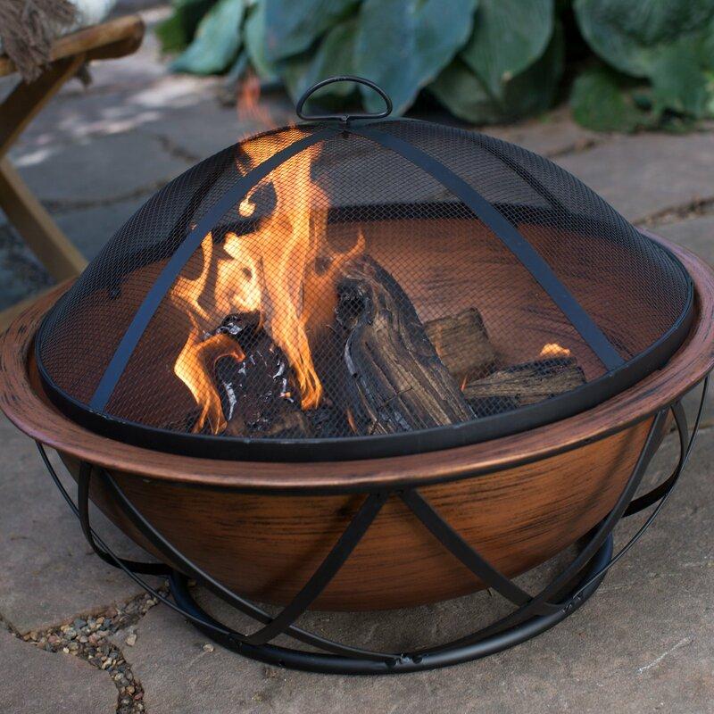Arlmont Co Adah Copper Wood Burning Fire Pit Wayfair