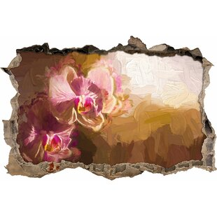 Colourful Orchids In A Closeup Wall Sticker By East Urban Home
