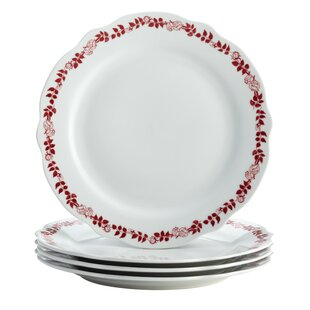 Yuletide Garland Printed Fluted Dinner Plate (Set of 4)