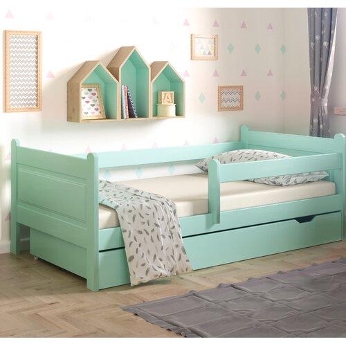 Funktionsbett Leo mit Schublade | Schlafzimmer > Betten > Funktionsbetten | Türkis | Massivholz - Holz | Nordville