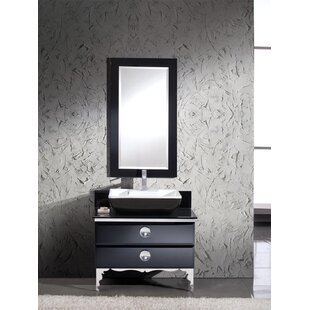 Buy luxury Moselle 36 Single Modern Glass Bathroom Vanity Set with Mirror By Fresca