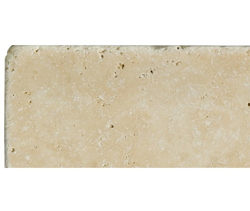 Emser Tile Travertine 3 X 6 Subway Tile In Unfilled Tumbled