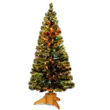Fiber Optics Radiance Fireworks 6' Green Artificial Christmas Tree with Base