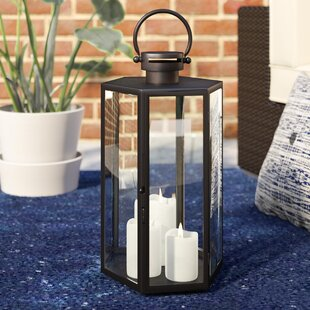 Mercury Row Outdoor Glass and Metal Lantern