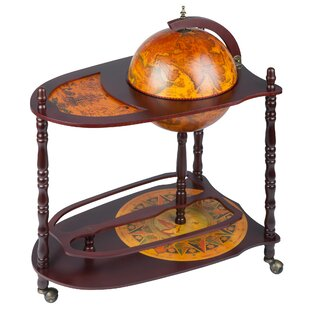 Old World Extended Shelf Italian Replica Globe Bar Cart by Design Toscano