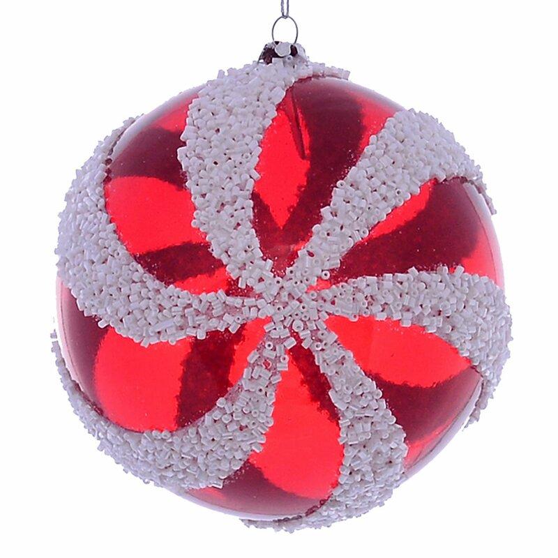 The Holiday Aisle 2 Piece Swirl Holiday Shaped Ornament Set Wayfair