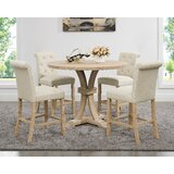 Claro 5 Piece Solid Wood Dining Set by Red Barrel Studio®