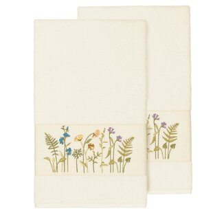Ha 2 Piece Bath Turkish Cotton Towel Set (Set of 2)