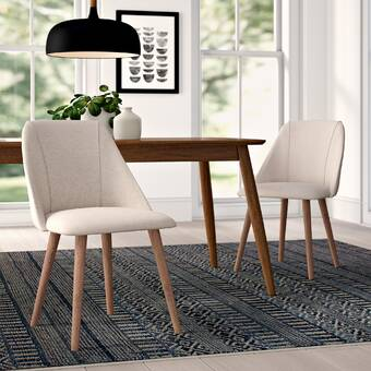 Brie Solid Wood Upholstered Dining Chair & Reviews | AllModern