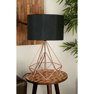 Metal wire table lamp wayfair siems contemporary geometric metal wire 26 table lamp keyboard keysfo Image collections
