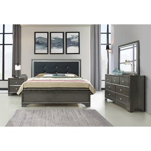 House of Hampton Sibdon Upholstered Panel Configurable Bedroom Set