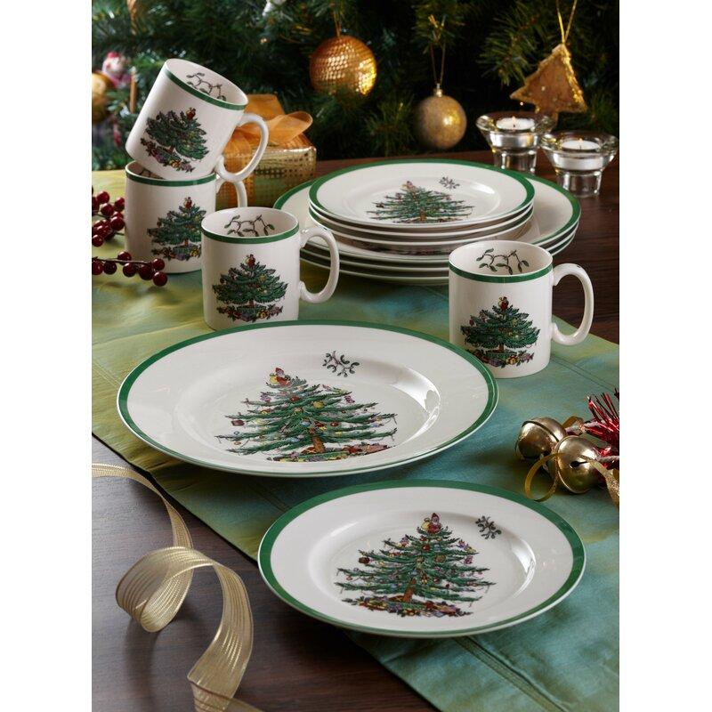 Spode Christmas Tree Sale: Spode Christmas Tree 12 Piece Dinnerware Set, Service For