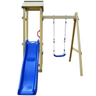 Playhouse With Slide Swing Set By Freeport Park