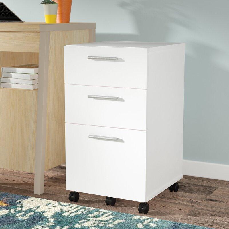 Latitude Run Magdalena 3 Drawer Mobile Filing Cabinet & Reviews ...
