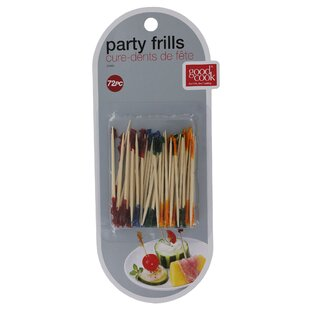Frill Party Pick Hors D'ouevres Toothpicks (72 Pack) (Set of 6)