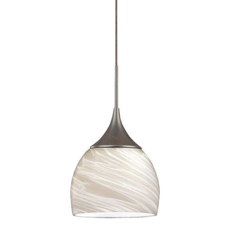 Ebern Designs Salamonia 1 Light Single Dome Led Pendant Wayfair
