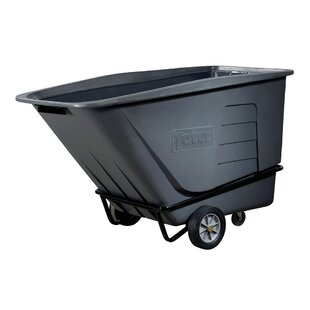 Heavy Duty 151 Gallon Two Wheeled Universal Tilt Truck Curbside Trash & Recycling Bin By Toter