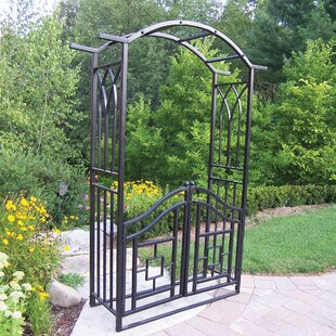 Oakland Living Royal Steel Arbor with Gate