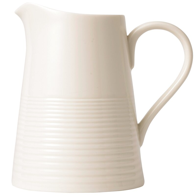 Maze Pitcher #stoneware #pitcher #creamware - 15 Stunning European Country Inspired Farmhouse Ingredients
