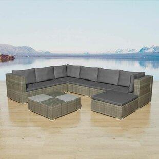 Check Price Griffith Garden 7 Seater Rattan Corner Sofa Set