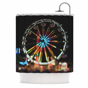 East Urban Home Night Lights Photography Shower Curtain