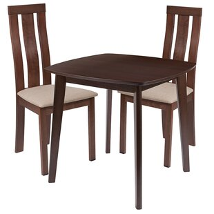 Coraline 3 Piece Solid Wood Dining Set by Ebern Designs