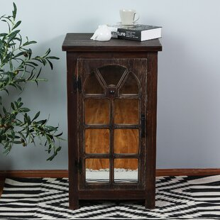 Millwood Pines Manuel Mirror Small Console 1 DoorAccent Cabinet