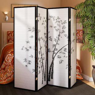Boulemane 70 x 68 4 Panel Room Divider by World Menagerie