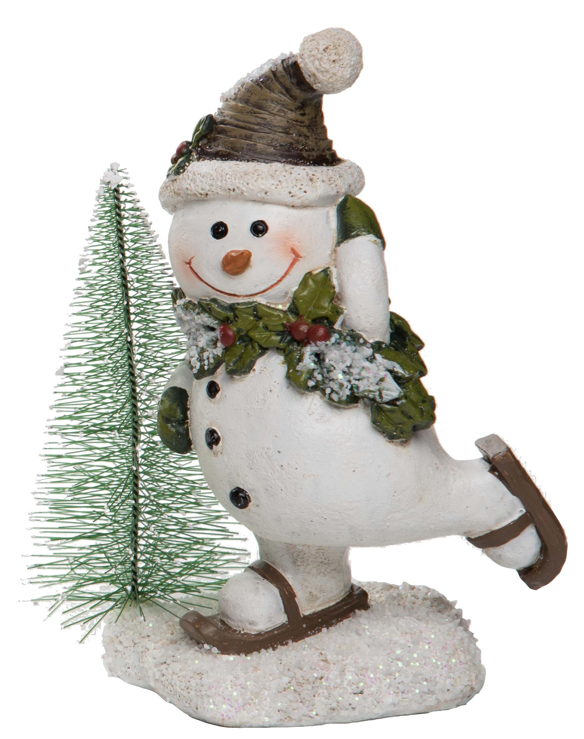 The Holiday Aisle Small Resin Snowman Figurine Reviews Wayfair