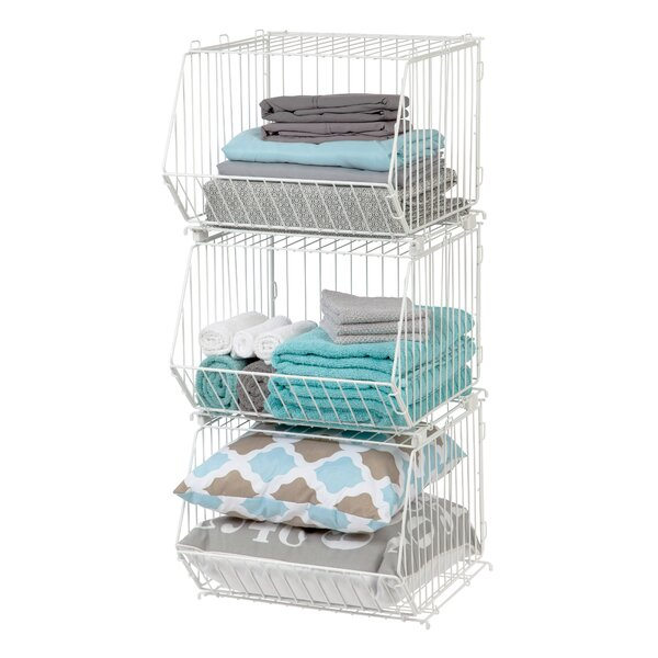 Wire Basket With Legs | Wayfair