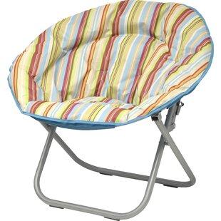 Urban Shop Surfer Stripe Saucer Papasan Chair