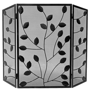 Leaves 3 Panel Steel Fireplace Screen By Symple Stuff