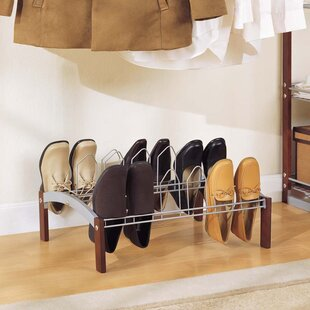 Affordable Espresso 1-Tier 9 Pair Shoe Rack ByOrganize It All