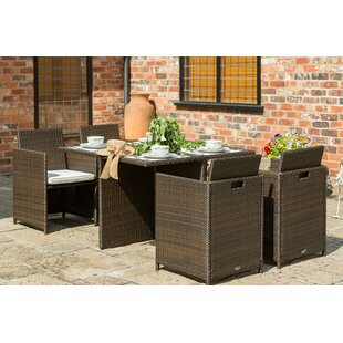 Almeida 4 Seater Dining Set With Cushions By Sol 72 Outdoor