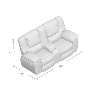 Simmons Upholstery Derosier Motion Reclining Loveseat Darby Home Co