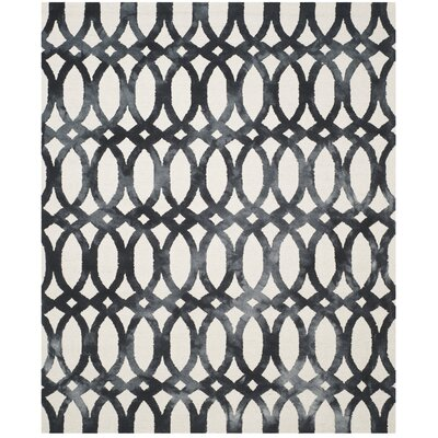 Zipcode Design Edie Hand-Tufted Cotton/Wool Graphite Area Rug Rug Size: Rectangle 4' x 6'