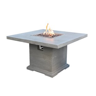 Birmingham Concrete Propane Fire Pit Table