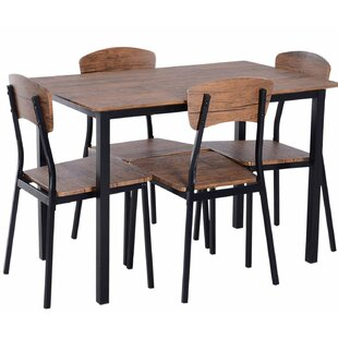 Castellanos Modern 5 Piece Counter Height Dining Set Union Rustic