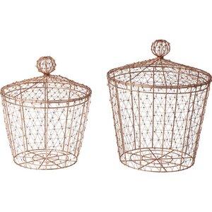 2-tlg. Körbe-Set Weave aus Metall von KARE Design