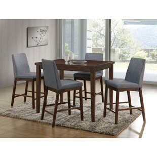 Reich Counter Height 5 Piece Pub Table Set Ebern Designs